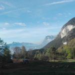 Panorama rifugio Malga Kraun Trentino